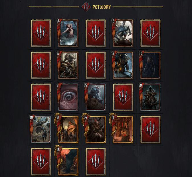 Gwint nowe karty