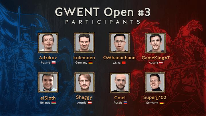 Uczestnicy GWENT Open #3 gwint